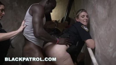 BLACK PATROL - Horny cops deal with a black criminal