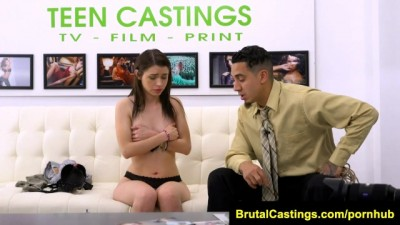 Sexy Teen Lucie Cline Rough bdsm in Casting