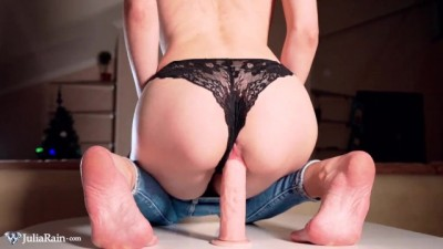 Blonde Masturbate and Hardcore Cowgirl Big Dildo - Female Orgasm