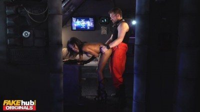 Space Taxi Fit Ebony Babe With Big Tits Fucked Before Creampie