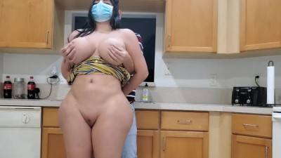 BIG ASS STEPMOM CANT GO OUT WITH CORONAVIRUS LOCKDOWN SO SHE FUCKS HER SON