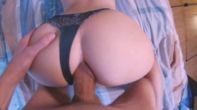 Young Teen Enjoys Anal Sex, Creampie Big Ass POV