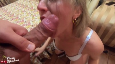 Horny Maid Sloppy Blowjob and Hard Anal - Cum Swallow POV #corona
