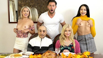 """Who's Hotter"" - Competing For His Thanksgiving Creampie - My Family Pies"