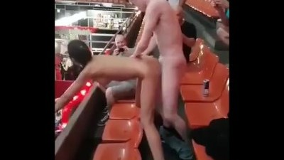 Crazy Sex In Public On The Stadium