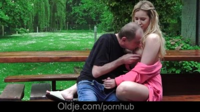 Oldje - Young Russian Blonde Lick The Ass Of An Old