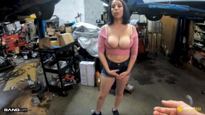 Roadside XXX - Horny Roadside Assistance Fucks Busty Latina Public