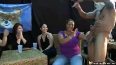 Dancing Bear - Horny Big Boob Party Girls Jack Off & Suck Stripper Cock