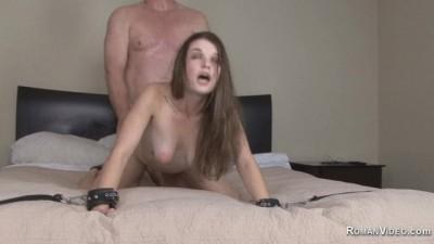 Step-dad punished slut daughter