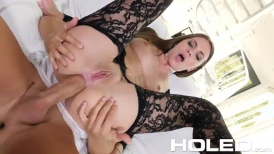 Veronica Clark's lace fucked anal