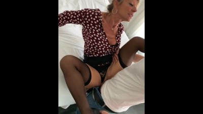 French blond MILF Marina Beaulieu gets fucked by a stranger
