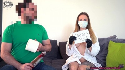 Blonde nurse hot sensual fucked after corona test