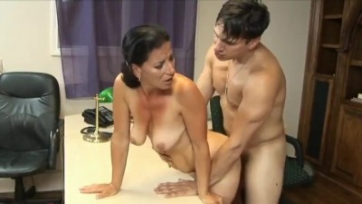 Horny whore mature woman fucked by young stranger man
