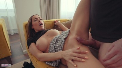 Gorgeous Slut Schoolgirl so horny then inside brother cock