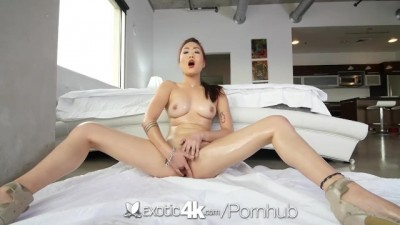 Exotic 4K - Asian Babe, Lea Hart, Sucks And Fucks Her Man