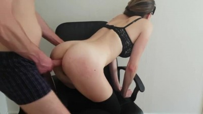 Blindfolded Hot Hard Anal Sex on a Chair