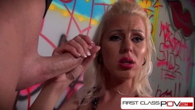 First Class POV - Lyanna Nilsson Sucking A Monster Big Cock