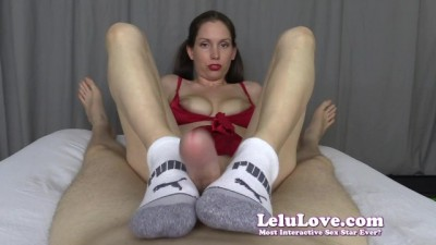 Lelu Love - Socks in your Face HandJob & Blowjob & Footjob