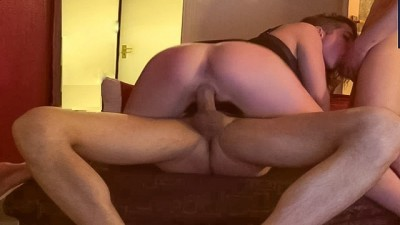 Two Cocks Fucks me better POV, Threesome Party.