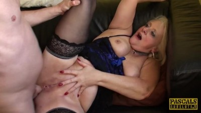 Hot Blonde Choked Granny Carol Gets Rough Anal Sex