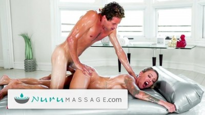 NuruMassage Isabelle Deltore is Soapy w Stepson!
