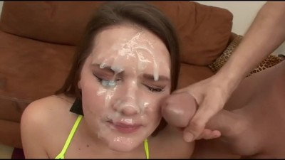 Blowbang Facial Cute Teen Cumshot