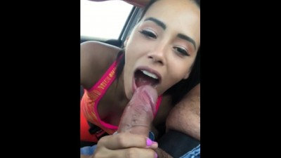 Miami Slut after Gym so she could Suck my Dick in the Car Public