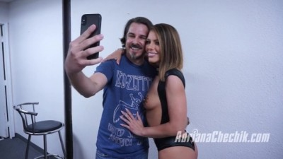 Adriana Chechik Fan Blowbang behind the Scenes from Brunette