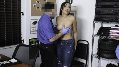 Thick Ebony Teen Gets Frisked and Fucked by Mall Cop