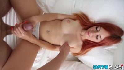 Freckle faced Red head Gets Shaved Pussy Stuffed Big Dick