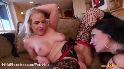 Busty Mature Lingerie Tease with Mindi Mink and Angel Allwood MILF