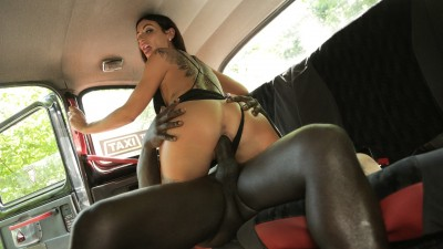 Horny driver hungry for black cock - Female Fake Taxi