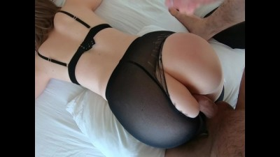 Tore Pantyhose on her and Fucked all Holes