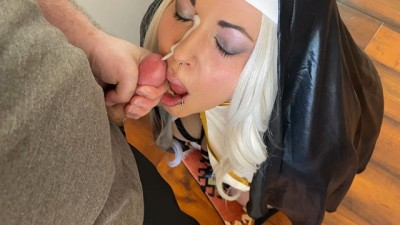 Sister Anarchy Submits and Gets Face Fucked till she is Covered in Cum