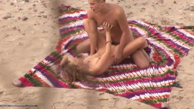 Young Couple Fucked At The Beach