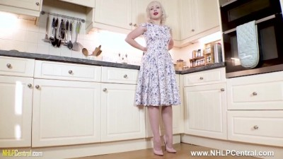 Young Blonde Girl Was Horny In The Kitchen