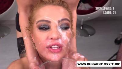 Cherry Kiss Totally Cum Covered - Bukkake.xxx