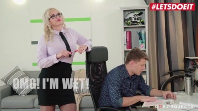 Mature Teacher Was With Her Young Student