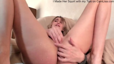 Hot Teen has an Intense Squirt Session using a Remote Vibrator