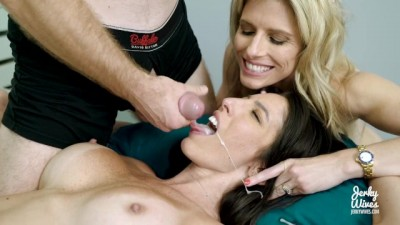 Fucking my Hot Step Sister and Wife in a Hot Threesome - Dava Fox and Cory