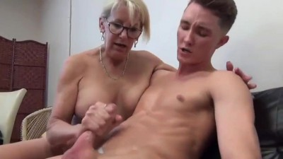 Divorced and Lonely Mature MILF Seduces and Fucks Teen Boy
