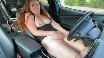 Making myself Cum in the Car Wile my Husband Runs in for Smart Pop * Real Amateur Porn *