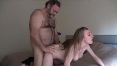 Innocent looking Teen Girl Gets Fucked by her first old Man