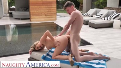Elle McRae Fucks Son's Friend Poolside