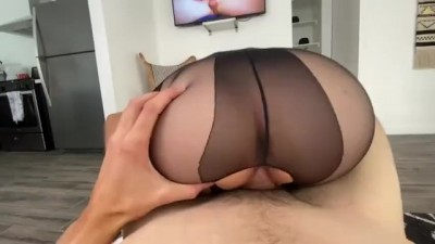 Tore Pantyhose with a Penis