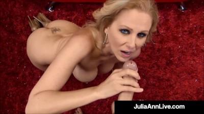 Beautiful Busty Mommy Julia Ann Drains a Lucky Hard Cock
